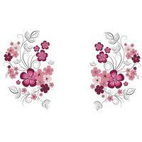 Naklejka dekoracyjna kwiaty, różowy