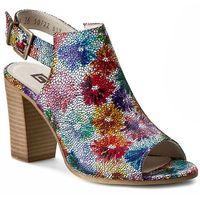 Sandały NESSI - 66005 Flower Multicolor, kolor wielokolorowy