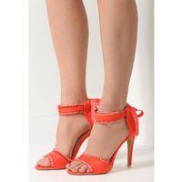 Pomarańczowe Sandały Heart Attack, kolor pomarańczowy