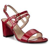 Sandały SAGAN - 2926 Czerwony Lakier