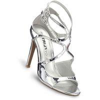 Sandały bonprix srebrny metaliczny