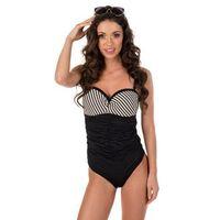 Kostium kąpielowy damski jednoczęściowy Lavel Anastazja D N8 czarny, jednoczęściowy