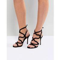 Steve Madden Leather Heeled Sandals - Black