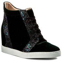 Sneakersy - w00042-snik-002 aksamit zielony/gliter czar/ziel marki Baldowski