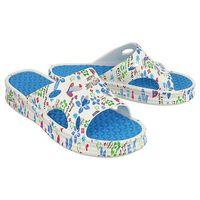DAGO STYLE 14023 niebieski, klapki basenowe damskie - Niebieski, kolor niebieski