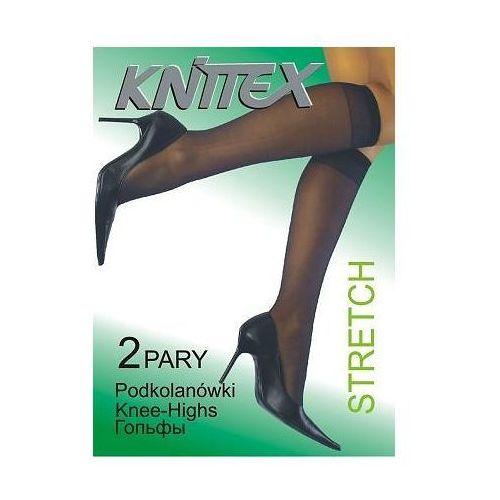 Podkolanówki stretch a'2 uniwersalny, czarny/nero, knittex, Knittex