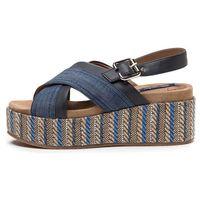 Wrangler sandały damskie Tempura Straw 39 niebieski