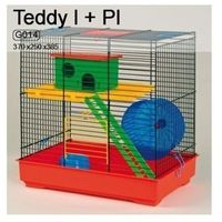 Inter-zoo Teddy I G014 klatka dla chomika z wyposażeniem 37x25x38,5cm