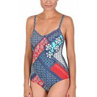kostium kąpielowy damski jednoczęściowy Naturana 73232 granatowy, jednoczęściowy