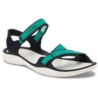 Sandały CROCS - Swiftwater Webbing Sandal W 204804 Tropical Teal