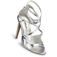 Sandały bonprix srebrny metaliczny, 1 rozmiar