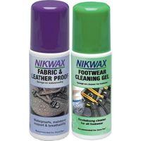 Nikwax Zestaw tkanina i skóra atomizer+żel czyszczący