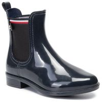 Kalosze TOMMY HILFIGER - Color Block Rainboot FW0FW04492 Midnight CKI