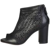 Buty za kostkę botki damskie PIERRE CARDIN - HERMELINE-85, kolor czarny