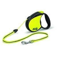 FLEXI Smycz automatyczna SPECIAL NEON M linka - 5m - do 20kg kolor: żółty, 194-2015