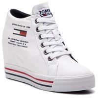 Tommy jeans Sneakersy - wedge casual sneaker en0en00543 white 100