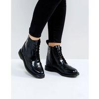 Dr Martens Kensington Delphine Brogue Black Lace Up Ankle Boots - Black, kolor czarny