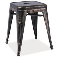 Taboret stołek spot stal przecierana loft marki Signal