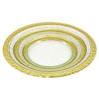 Tadar Dek.talerz okrągły lisa gold 39cm (5907558706789)