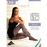 Rajstopy Donna B.C. Milano 30 den 1/2-S/M, czarny/nero, Donna B.C., kolor czarny