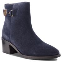 Tommy hilfiger Botki - th buckle mid heel b fw0fw03629 midnight 403