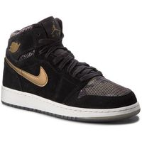 Buty - air jordan 1 ret hi prem hc 832596 030 black/mtlc field/light bone, Nike