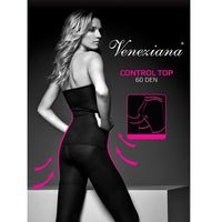 Rajstopy Veneziana Control Top 60 den 3-M, czarny/nero. Veneziana, 2-S, 3-M, 4-L, 5901507461019