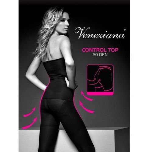 Rajstopy Veneziana Control Top 60 den ROZMIAR: 3-M, KOLOR: czarny/nero, Veneziana, 5901507461019
