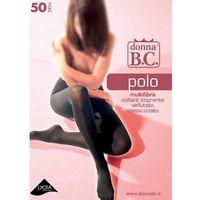 Rajstopy Donna B.C Polo 50 den ROZMIAR: 4-XL, KOLOR: szary/antracit, Donna B.C., 8300182397328