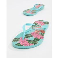 slim floral flip flops - blue marki Havaianas
