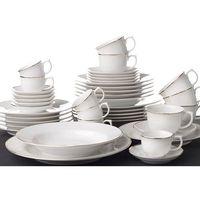 OXFORD FLAMINGO SOFIA - Zastawa stołowa obiadowo-kawowa 42 części na 6 osób