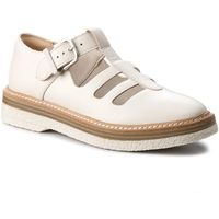 Półbuty CLARKS - Zante Freya 261311664 White Leather
