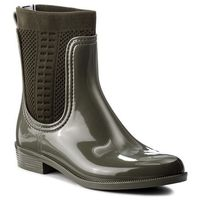 Tommy hilfiger Kalosze - tommy knit rain boot fw0fw02940 dusty olive 011