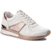 Sneakersy MICHAEL KORS - Allie Plate Wrap Trainer 43R7ALFS4L Optic/Ballet, kolor różowy