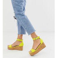 suedette flatform sandal in light green - green marki New look