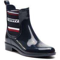 Kalosze - elastic rain boot fw0fw03836 midnight 403, Tommy hilfiger, 37-41
