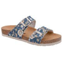 Klapki Dr Brinkmann 701143-5 Jeans Niebieskie Kwiaty Bleu Naturform - Jeans ||Niebieski ||Kwiaty Flower (4053519927494)