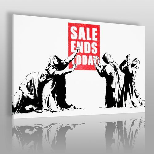 Banksy - sale ends today - nowoczesny obraz na płótnie marki Vaku-dsgn