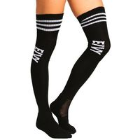Eivy ALPINE SOCKS CHEERLEADER OVER KNEE Podkolanówki black (7350079273199)