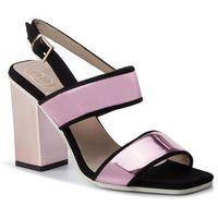 Sandały BALDOWSKI - D01979-3025-G10 Zamsz Czarny/Specchio Lila, kolor różowy