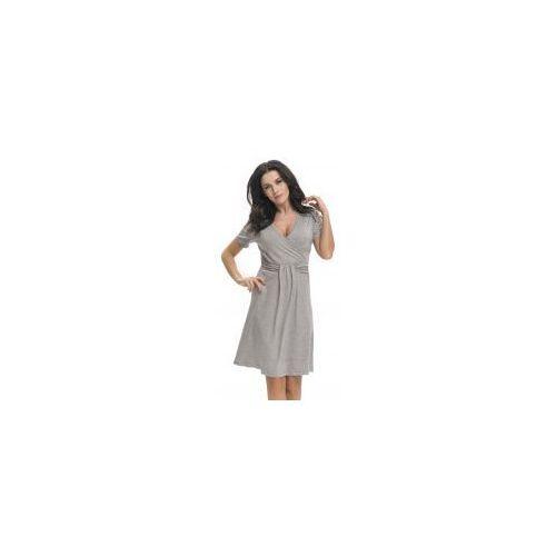 Bambusowa koszula nocna ciążowa i do karmienia DN - Dark Grey, TCB.9116 DARK GREY