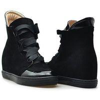 Sneakersy 1017 czarne nubuk marki Veronna