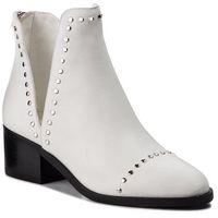 Botki STEVE MADDEN - Conspire Ankleboot SM11000064-03001-107 White Leather, kolor biały