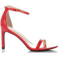 Ideal shoes Klasyczne lakierowane sandały damskie czerwone (kolory)