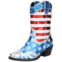 Buffalo London Buty kowbojskie 'GERDA' niebieski / czerwony / biały (4061516096785)