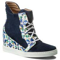 Sneakersy BALDOWSKI - W00041-SNIK-002 Zamsz Granat/Porcelana Żółto/Niebieski, kolor wielokolorowy