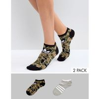 originals camo/grey printed 2 pack socks - green, Adidas