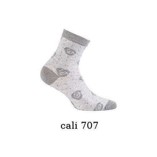 Skarpety cottoline damskie wzorowane g84.01n rozmiar: 39-41, kolor: szary/cali, gatta, Gatta