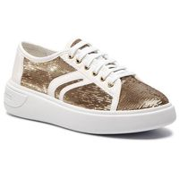 Sneakersy GEOX - D Ottaya E D92BYE 0AT54 C0583 Gold/White, kolor żółty
