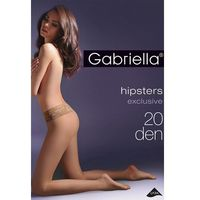 Rajstopy Gabriella Hipsters Exclusive 630 3D 20 den 3-M, beżowy/beige, Gabriella, kolor beżowy